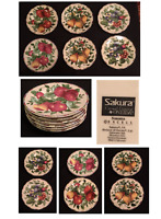 Vintage SAKURA by Oneida Stoneware Dinnerware  SONOMA Pattern Fruit 6-Piece Set