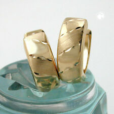375 Gelbgold Klappreolen Ohrringe Kreolen matt glanz 12 mm Damen schöne schlicht