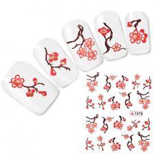 Tattoo Nail Art Japan Glitzer Aufkleber Kirschblüten Nagel Sticker Neu!