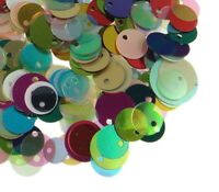 Pailletten Glatt Perlen 250g Bunt 8 - 12mm Kostüm Hobby Deco Basteln BEST R145B
