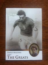 2013 Futera Unique Greats Soccer Card - Italy MALDINI Mint