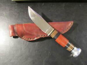 Vintage Ka-Bar #472 Union Cutlery, Olean, N.Y. Hunting Knife and leather sheath