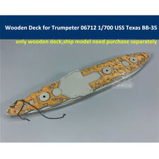 Wooden Deck for Trumpeter 06712 1/700 USS Texas BB-35 Ship Model CY700039