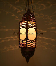 """Handcrafted 26"""" Height Moroccan Brass Ceiling light Fixture Hanging Lantern Lamp"""