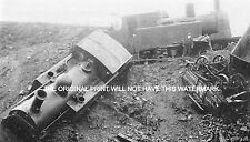 TAFF VALE TRAIN CRASH MOUNTAIN ASH WALES 1899  VINTAGE RAILWAY PRINT MOUNTED