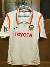 VALENCIA SPAIN 2007 2008 HOME FOOTBALL SHIRT CAMISETA SOCCER JERSEY NIKE KIDS SZ