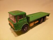 MATCHBOX SUPER KINGS K-13/20 DAF TRUCK FLAT BED - GREEN 1:60? - GOOD CONDITION