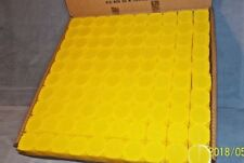 NEW--YELLOW--Alfred S Colellia Square Coin Tubes-Half Dollar-100 per Box