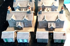 N guage buildings four railway workers cottages with sheds assembled