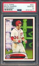 41012211 2012 Topps 661 Bryce Harper Screaming RC Rookie PSA 10 GEM MINT