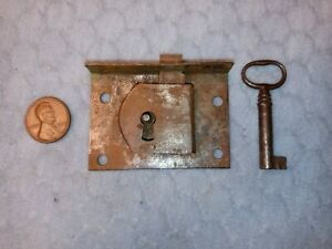 Drawer Lock Furniture Period Handmade Semi-mortise