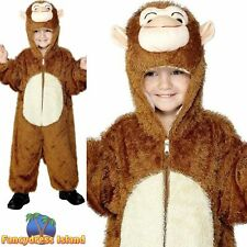 Monkey Costume Jungle Ape Animal Zoo Childs Kids Boys Fancy Dress Costume