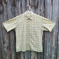 Men's Pierre Cardin Cotton Short Sleeve Camp Shirt Size Large