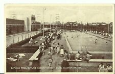 BUTLINS CLACTON ON SEA THE BATHING POOL H.3838 PC