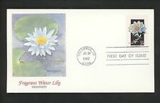 US FDC #2648 Wildflowers 1992 Fleetwood Cachet Mississippi MI Fragrnt Water Lily