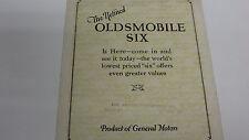 1926  Oldsmobile  Six  Sales  Catalog - Original