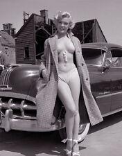 Marilyn Monroe & vintage car vintage classic picture   8x10 photo