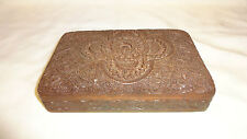 Vintage Very Detailed Hardwood Carved Trinket/Jewellery Box