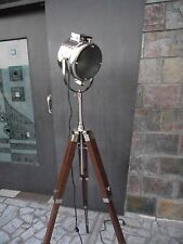Nautical Electric Floor Lamp Studio Searchlight With Tripod Stand Designers
