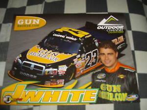 2010 JASON WHITE #23 OUTDOOR CHANNEL NASCAR POSTCARD