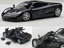 MCLAREN F1 BLACK WITH OPENINGS 1/43 DIECAST CAR MODEL BY AUTOART 56002