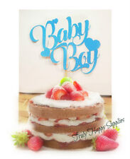 Baby Boy Cake Topper It's a boy  - 20 Glitter options