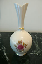 Lenox China Bud Vase Pink Flower Narrow Neck 8""