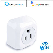 2X Smart WiFi Us Plug Remote Control Timer Switch Socket Outlet Alexa Googlehome