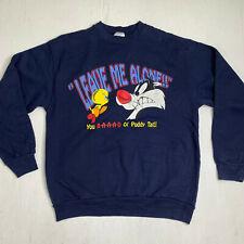 Vintage Tweety Sylvester Sweater Adult Large Looney Tunes Long Sleeve Pullover