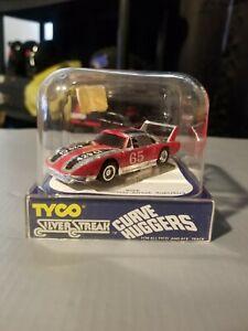 Tyco Curve Huggers Superbird #65 chr/red/blk 1977 nos rare htf mib original.