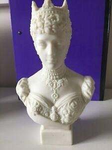 Robinson & Leadbeater Parian Bust of Queen Alexandra - Designer W C Lawton