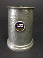 THE LAST DROP Vintage Pewter Stein Mug Glass Bottom Tankard HMCS Quebec Canada