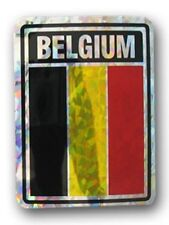 Belgium Country Flag Reflective Decal Bumper Sticker