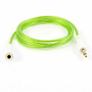 """41.7"""" 1.06M 3.5mm M/F Audio Aux Cable Cord Green for Smartphone Mp3 Mp4 PC"""