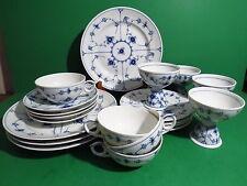 20 pc Royal Copenhagen Blue Fluted Plain -Sherbert Luncheon Dessert Cup & Saucer