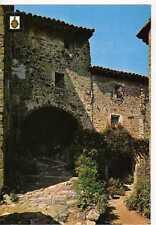 Postal Girona Santa Pau, detall casc antic Vila Vella.