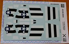 Microscale Decal #AC48-0004 P-51 B/C Mustang Invasion Stripes