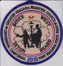 "2010 Centennial Camporall Patch 4"" Blue bd GNFC Greater Niagara Frontier Council"