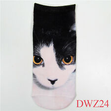 Hot ! New fashion cool style 1 Pair 3D printing Low Cut Animal Ankle Socks DWZ24