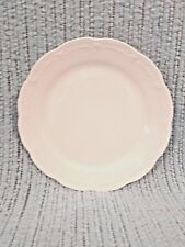 VIKTORIA HUTSCHENREUTHER SALAD-DESSERT PLATE GERMANY WHITE EMBOSSED SCALLOPED