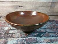 Large Beautiful Unmarked Studio Pottery  Bowl 28cm Diameter