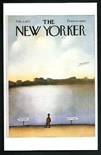 Saul Steimberg - Copertina per The New Yorker del 1972 - cartolina moderna