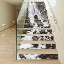 13Pcs 3D Waterfall Stair Risers Photo Mural Decal Sticker DIY Decor Wallpaper