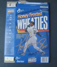 Ken Griffey, Jr--1996 Honey Frosted Wheaties Cereal Box--Gold Signature Version