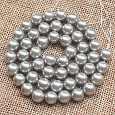 "10mm Natural Gray South Sea Shell Pearl Round Loose Beads 15"" Strand  AAA DIY"