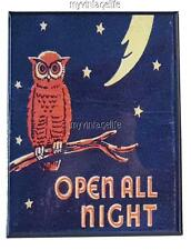 "OPEN ALL NIGHT 2"" x 3"" Fridge MAGNET DINER VINTAGE NOSTALGIC"