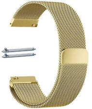 Gold Tone Magnetic Clasp Steel Mesh Milanese Bracelet Watch Band Strap #5043