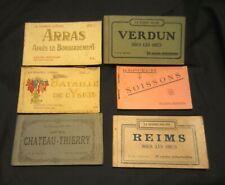 6 Vintage France Postcard Booklets. La Guerre 1914-18. Ww1 / Military / Bombing