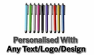 Personalised Custom Engraved Printed Metal Stylus Touch Pens Promotional Bulk