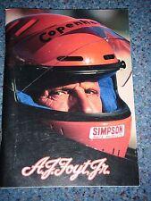 A J FOYT JR JUNIOR MEDIA GUIDE PPG INDYCAR  INDY 500 GILMORE COPENHAGEN NASCAR